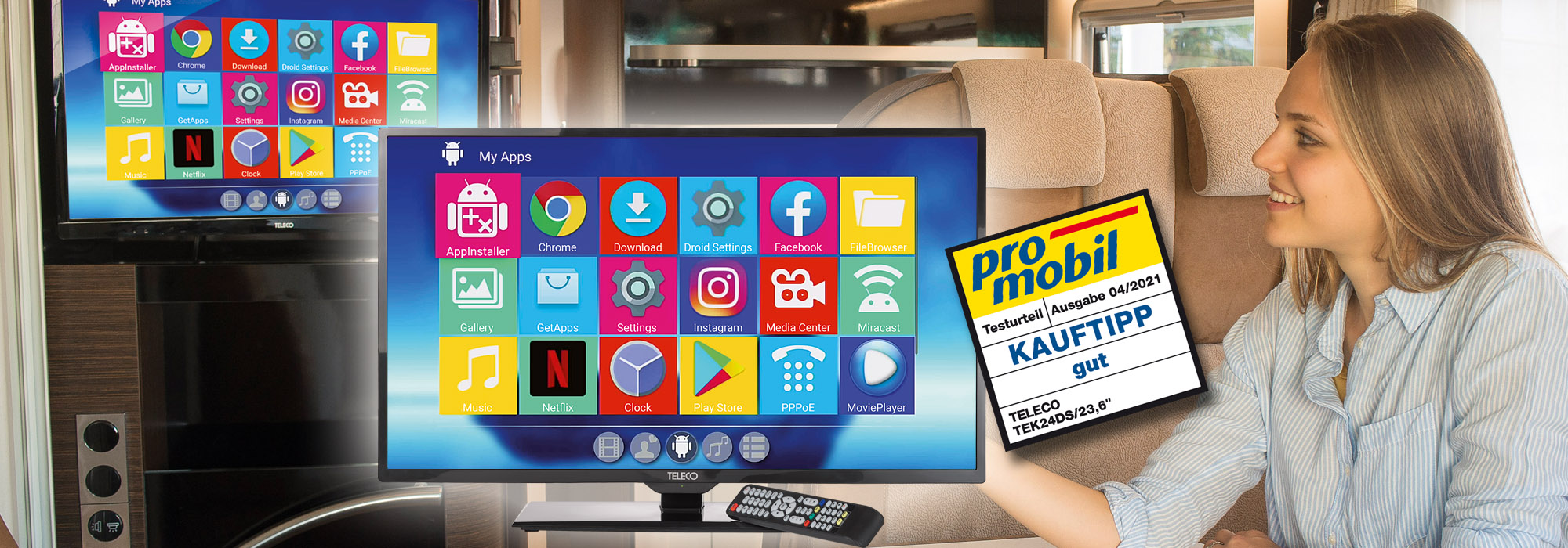 Teleco's SMART TV wins a place on the podium in promobil tests